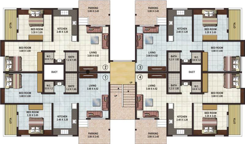 2 bhk apartment floor plans theapartment 2 bhk flats floor plans